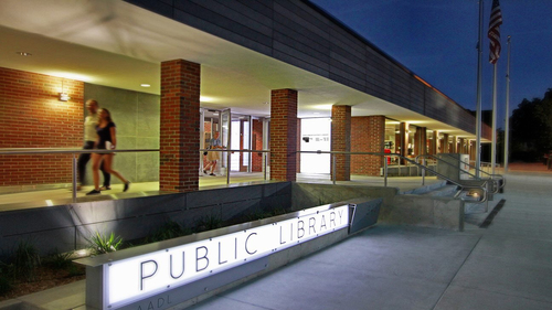 Ann Arbor District Library Entrance