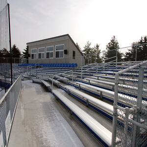 GVSU Baseball Dugouts and Pressboxes
